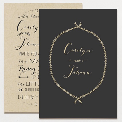 black-beige-invitations
