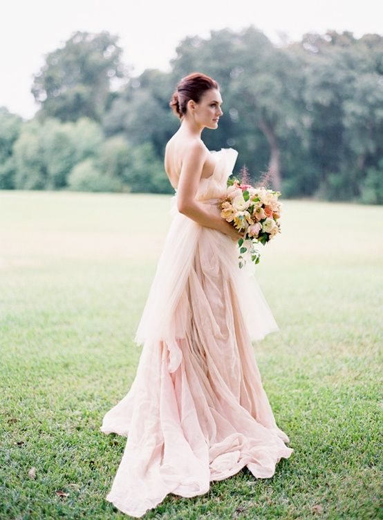 gorgeous-pink-wedding-dress