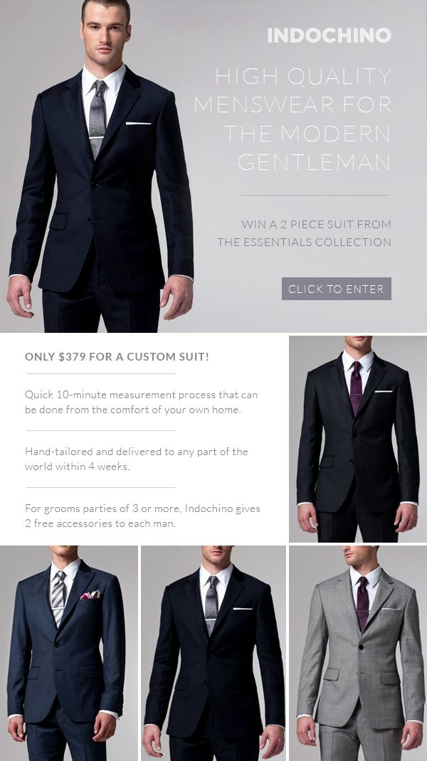Free Custom Suit from Indochino