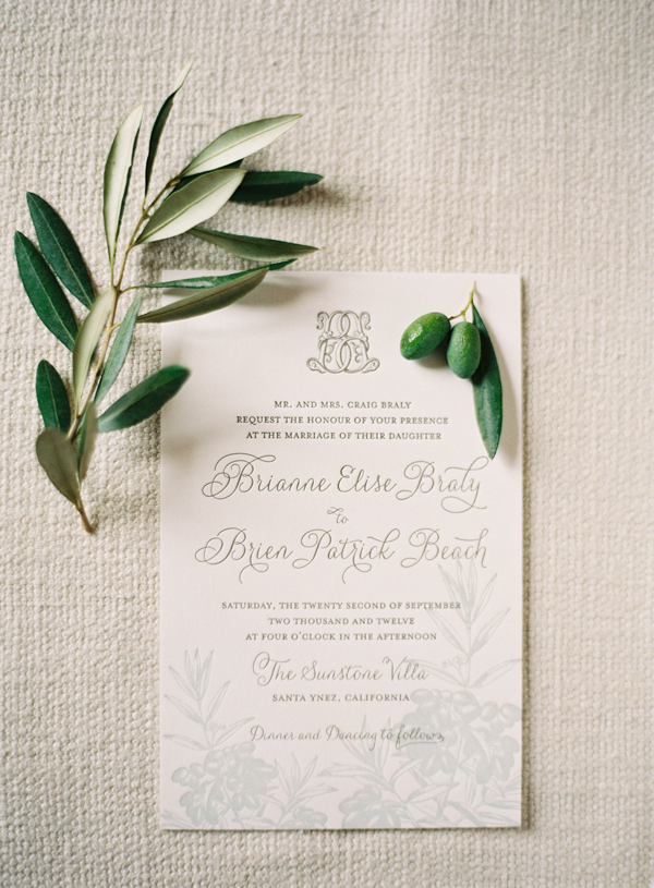 Olive Wedding Invitations Once Wed