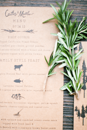 menu ideas wedding menu ideas