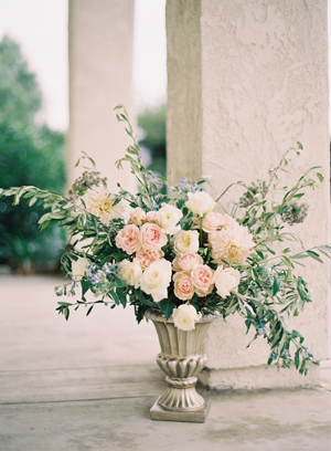 Rustic Wedding Ceremony Flowers Once Wed