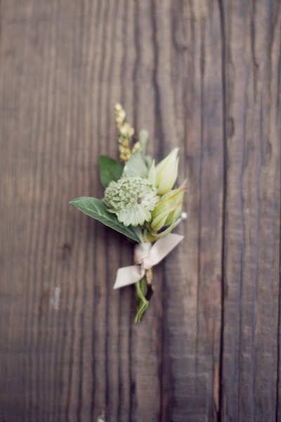 Simple Garden Boutonniere Once Wed