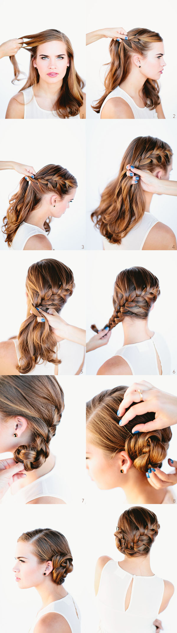 French Braid Hair Bun