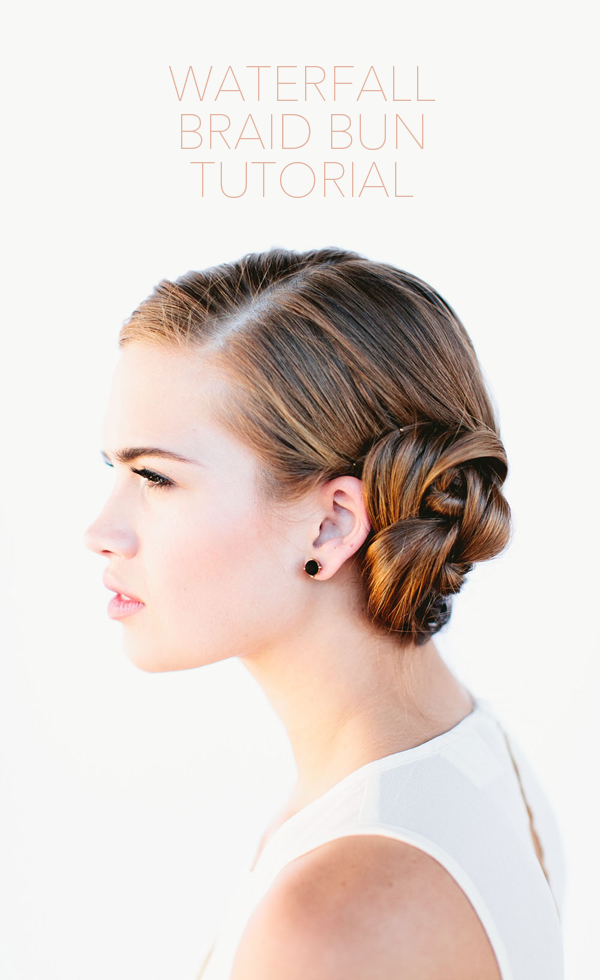 French Braid Bun Hair Tutorial Once Wed