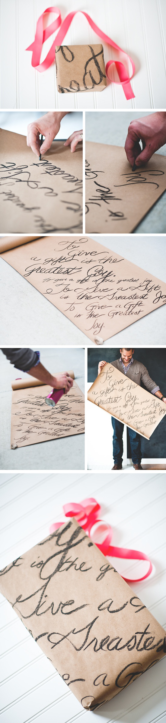 DIY Love Note Gift Wrapping Paper