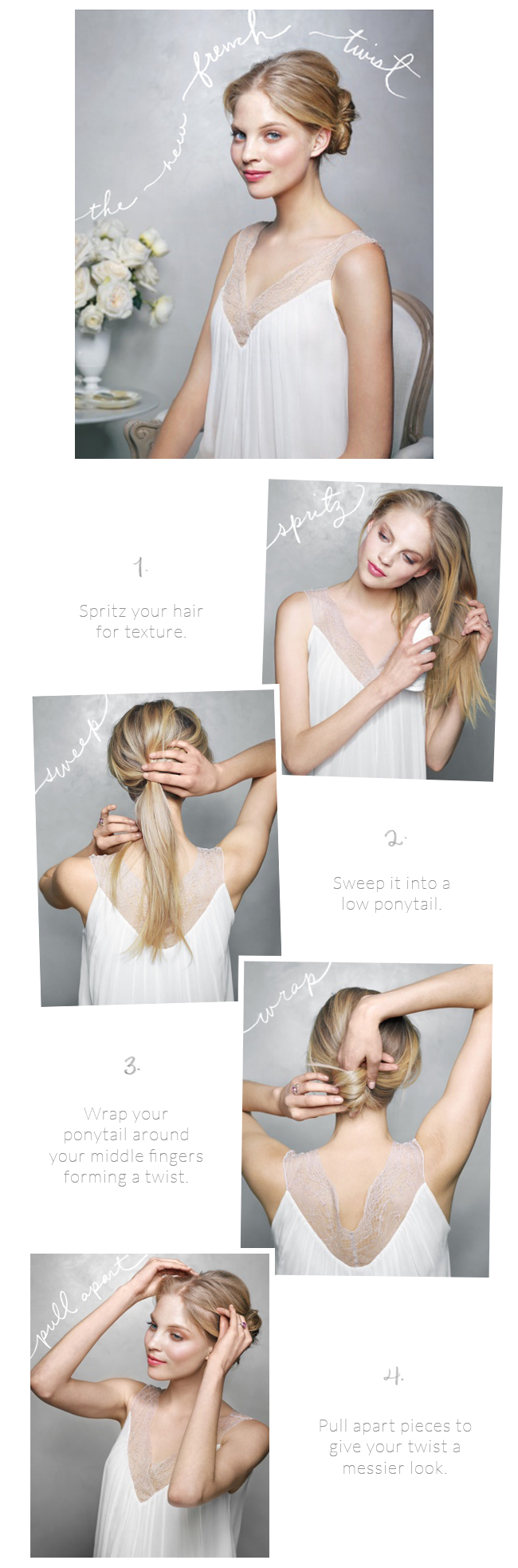The New French Twist Wedding Hairstyles Tutorial - Once Wed