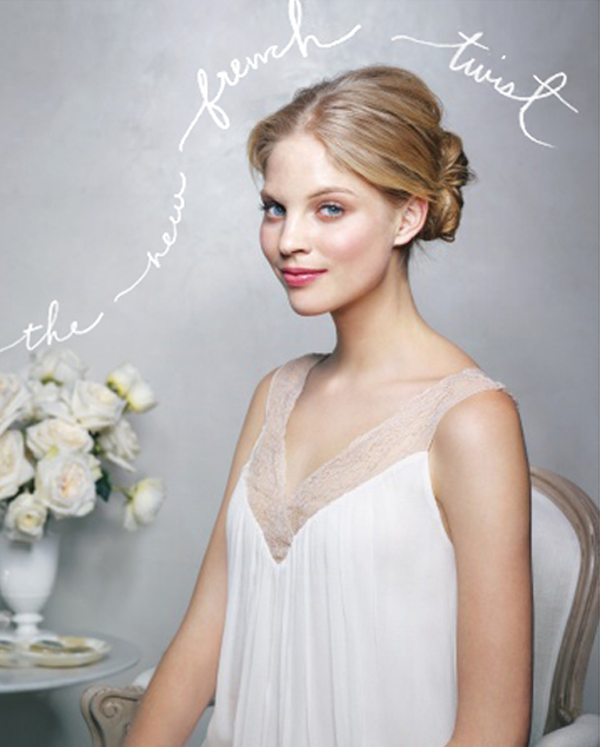 The New French Twist Wedding Hairstyles Tutorial