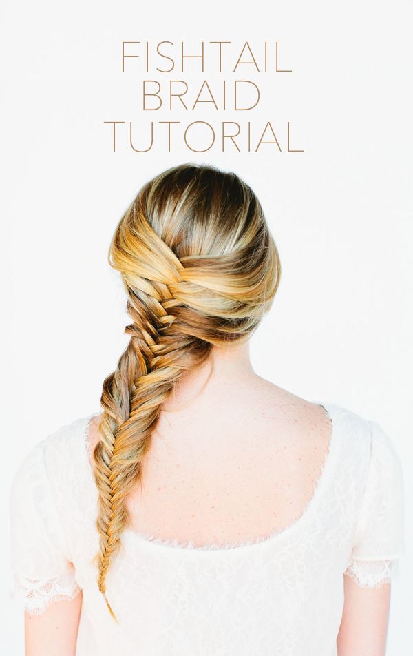Fishtail braid hair tutorial once wed for Fish tail hair