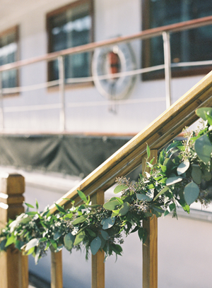 Greenery Railing Wedding Garland Once Wed
