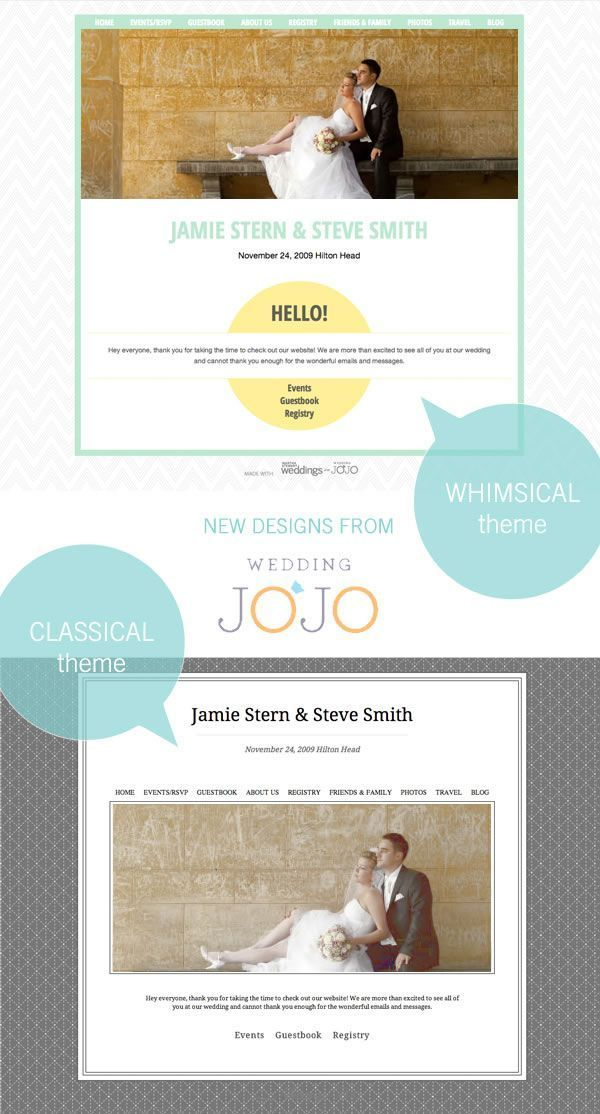 Free Wedding Website with Wedding JoJo