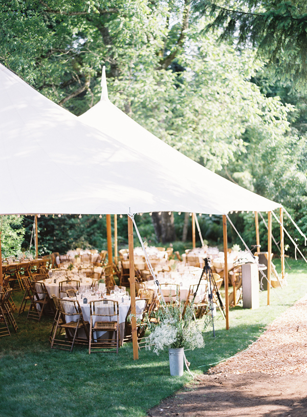Charming seattle outdoor wedding once wed for Outdoor wedding reception ideas