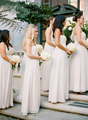 pale-cream-bridesmaid-dresses - Once Wed