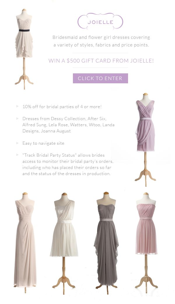 Win $500 to outfit your wedding from Joielle!
