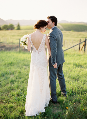 white-alencon-lace-wedding-dress