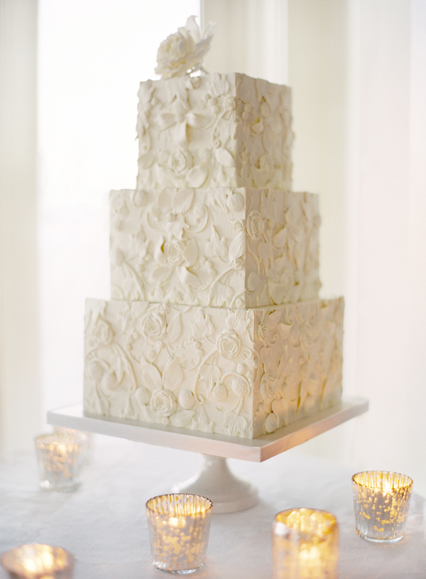 White Lace Simple Wedding Cakes Once Wed