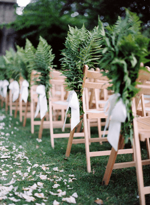 fern-wedding-aisle-markers