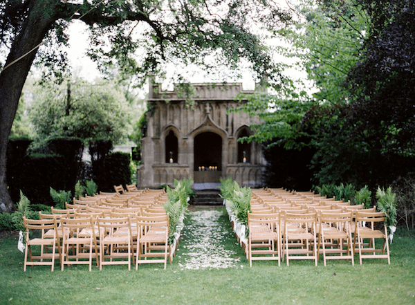 Outdoor Wedding Ceremony: Elegant English Manor Outdoor Wedding