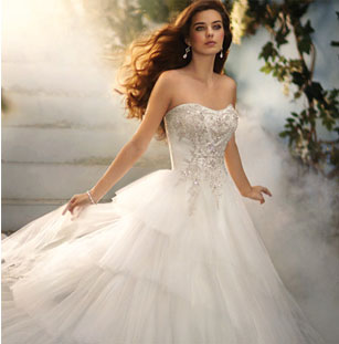Disney preowned wedding dresses once wed for Disney style wedding dresses