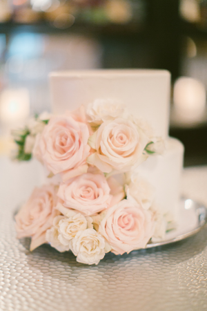 Fresh Flower Simple Wedding Cakes Once Wed