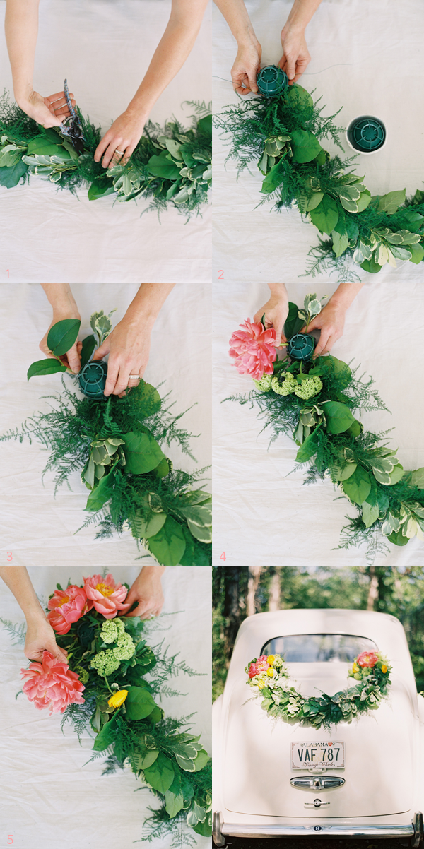 diy-wedding-car-garland-decorations
