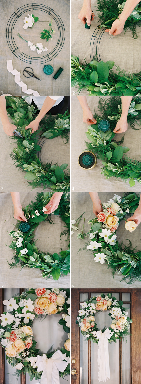 Diy wedding wreath once wed