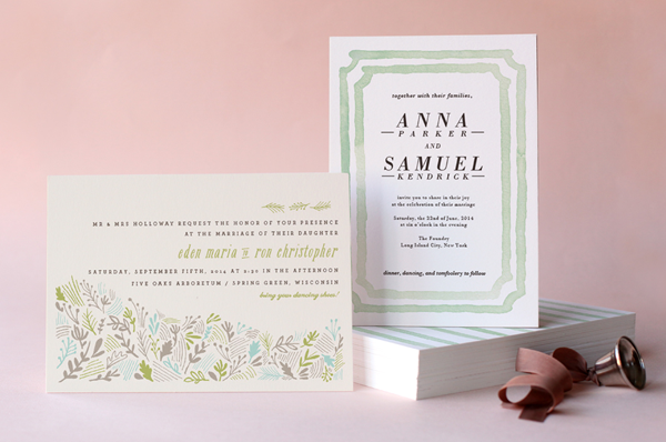 minted wedding invitations + giveaway - once wed, Wedding invitations