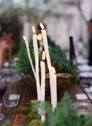 handmade-DIY-dipped-taper-candles-wedding-reception