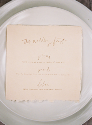 handwritten-wedding-menu-feast-meagan-tidwell-ivory-handmade-paper-pencil-white-coup-plate-wedding-reception