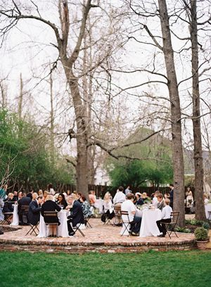 intimate-backyard-wedding-reception-brick-patio-bistro-tables