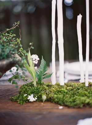 moss-handmade-dipped-DIY-candles-fern-angle-vine-budget-wedding-centerpiece