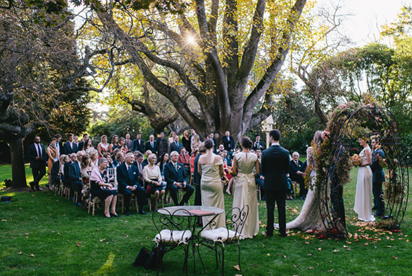 Outdoor Wedding Ceremony: Romantic Outdoor Fall Wedding