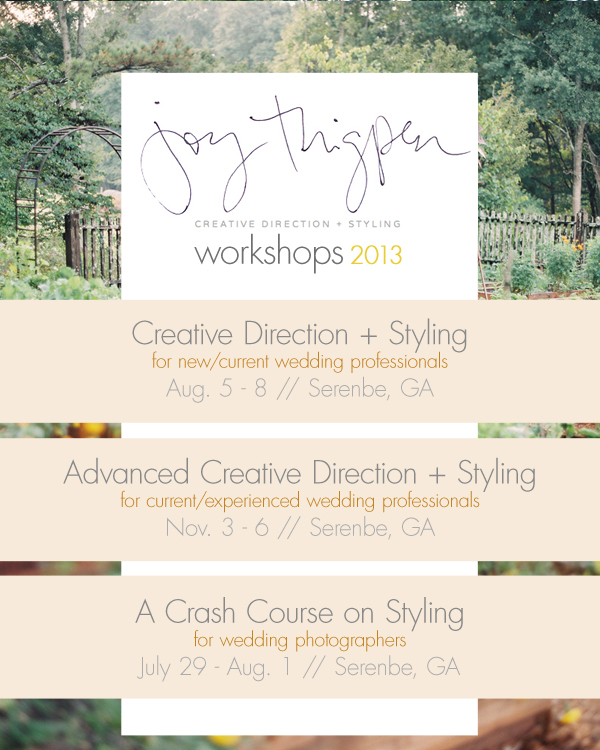 Win a Seat to Joy Thigpen's Photography Styling Workshop