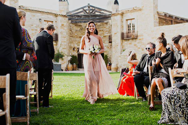long-pink-bridesmaid-dresses
