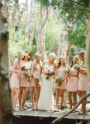 light-pink-lace-wedding-bridesmaid-dresses