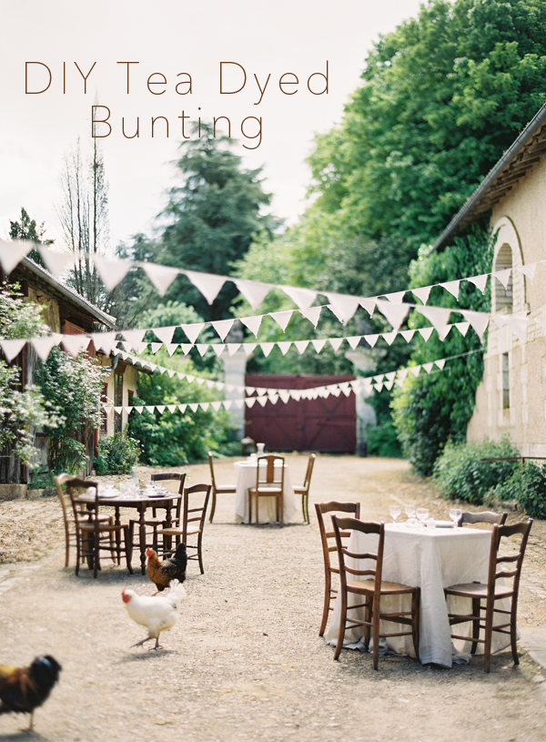 diy-tea-dyed-bunting-wedding-ideas