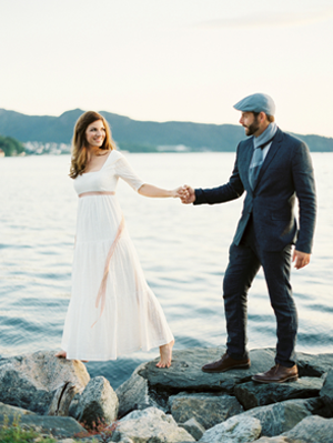 Organic Wedding on the Fjords of Norway