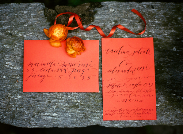 orange-calligraphy-wedding-invitation-ideas
