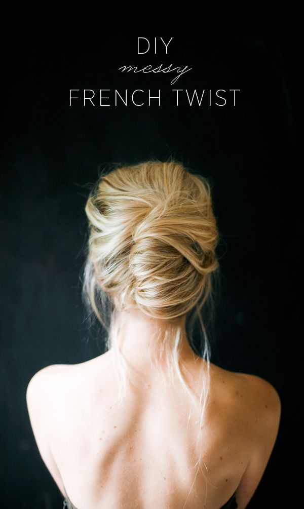 Messy French Twist Tutorial Once Wed