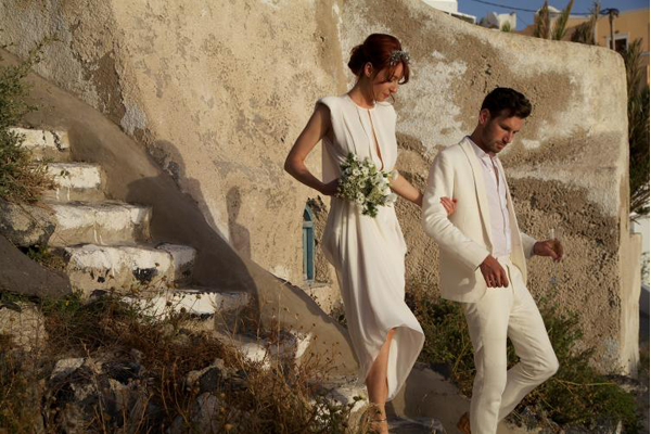 Intimate Santorini Wedding