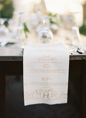 cloth-wedding-menu-with-gold-calligraphy