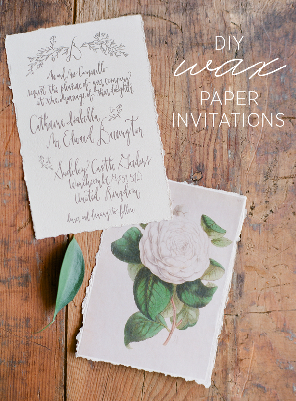 Diy Wax Paper Wedding Invitations Once Wed