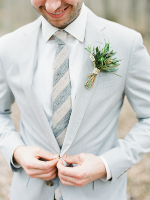 light-grey-wedding-suit - Once Wed