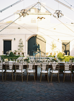 open-air-gold-chandelier-vintage-wedding-reception-ideas