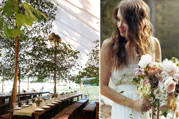 Rustic Wedding Under The Trees