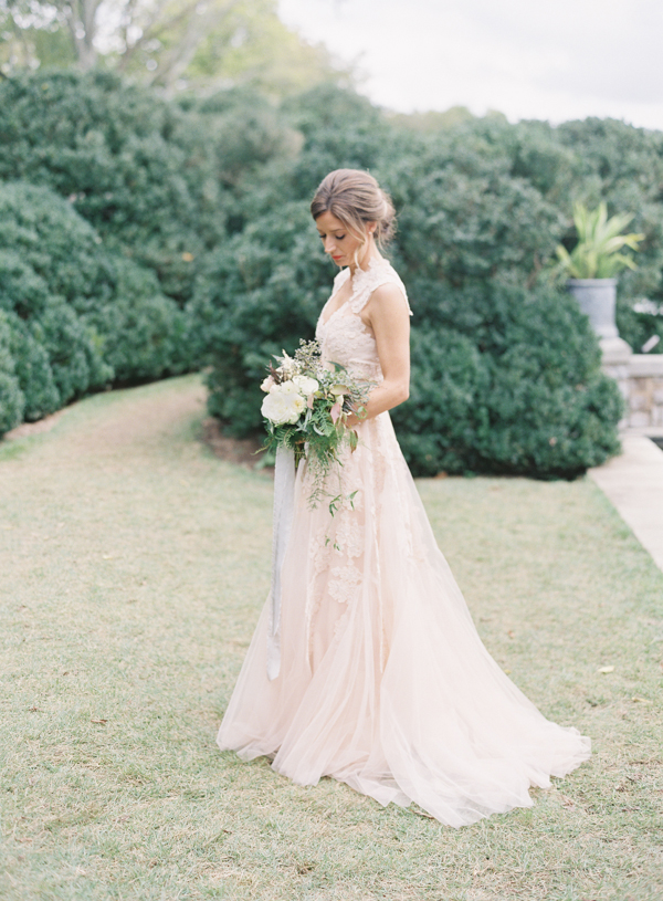 Blush reem acra wedding dresses once wed for Wedding dresses in nashville