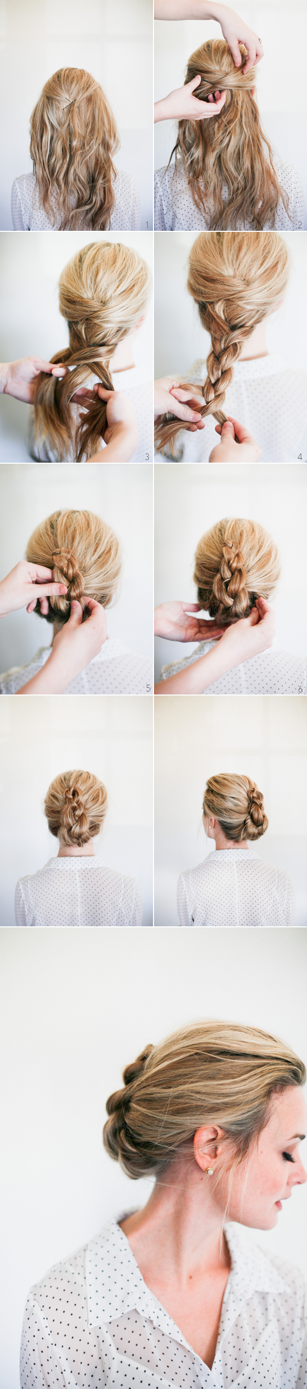 Braided French Twist How To - Once Wed