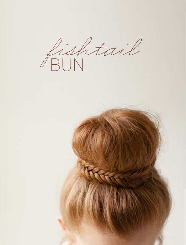 diy-elegant-fishtail-bun-wedding-updos