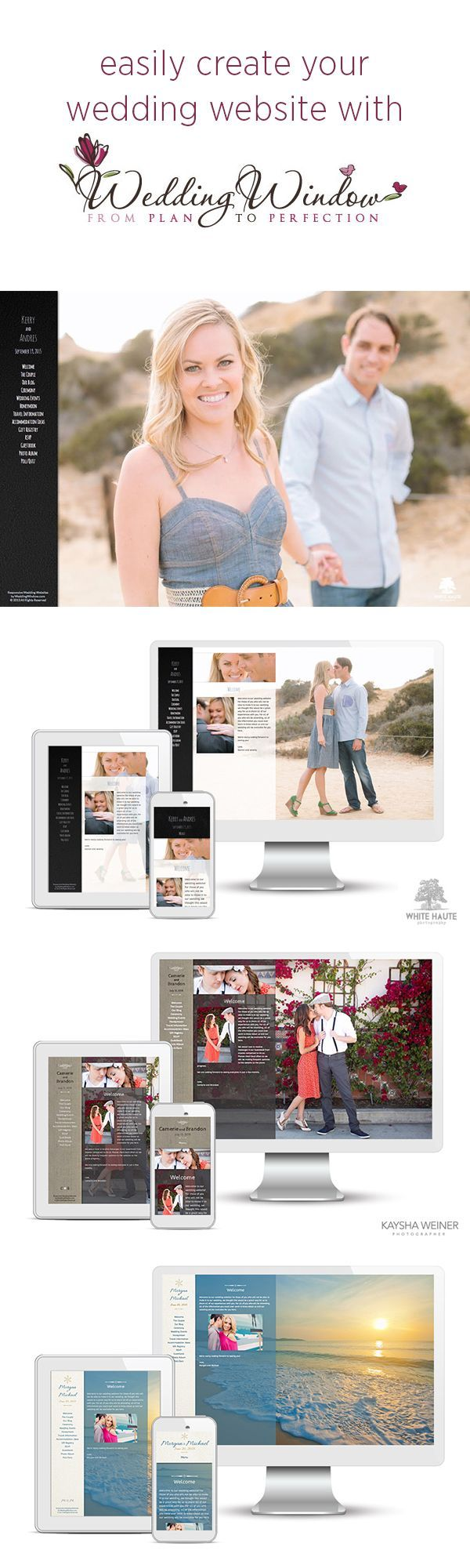Create Your Wedding Website with Wedding Window