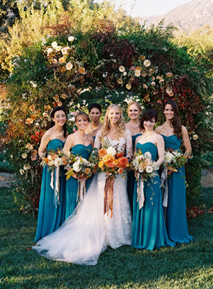 elegant-blue-bridesmaid-dresses